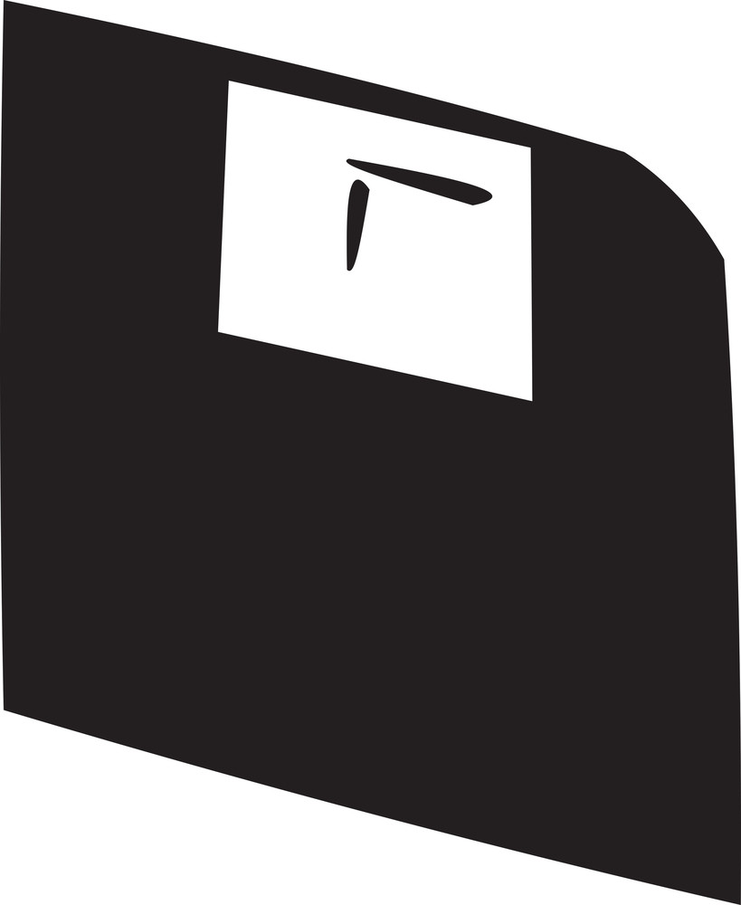 Illustration Of Floppy Disc Of Computer.