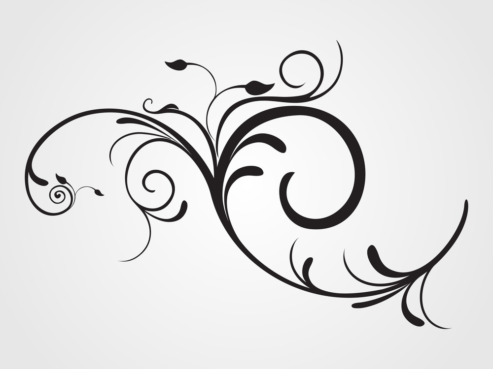 Illustration Of Floral Pattern Tattoo