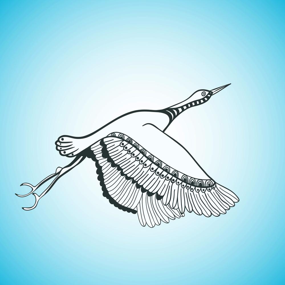 Illustration Of Flying Bird