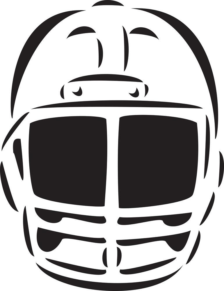 Illustration Of Football Player Helmet.