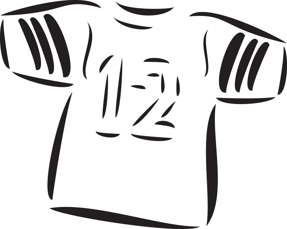Illustration Of Football Player T-shirt.