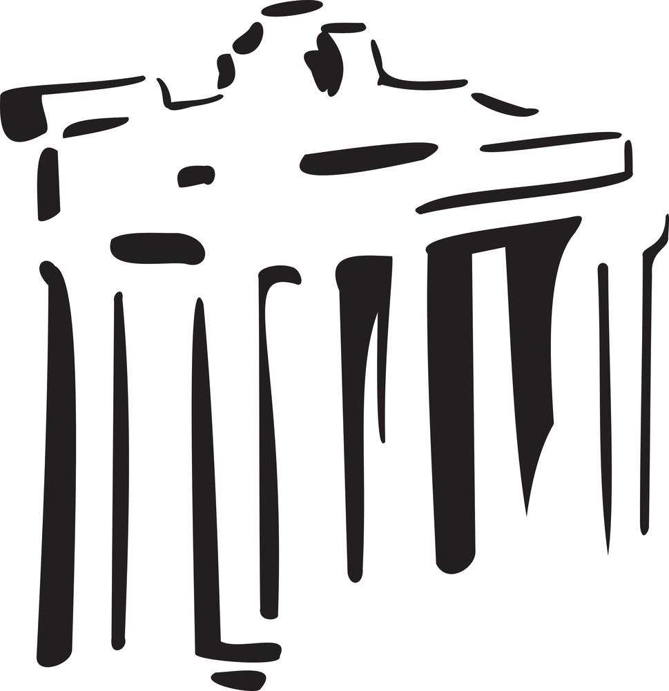 Illustration Of Forum Romanum In Italy.