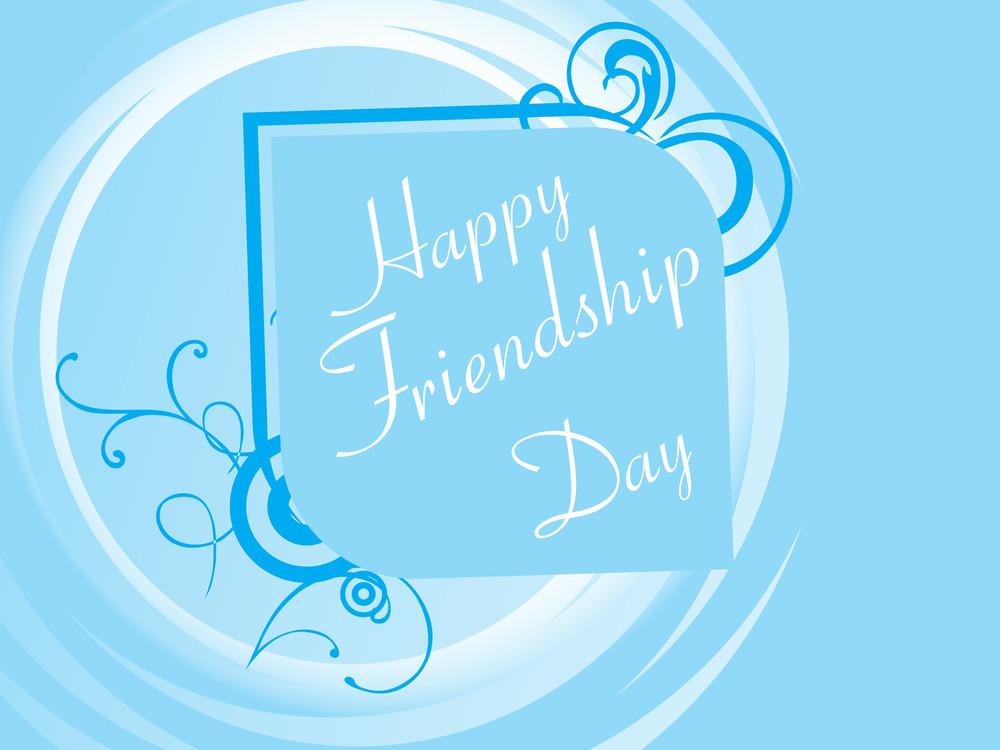 Illustration Of Friendship Day Background