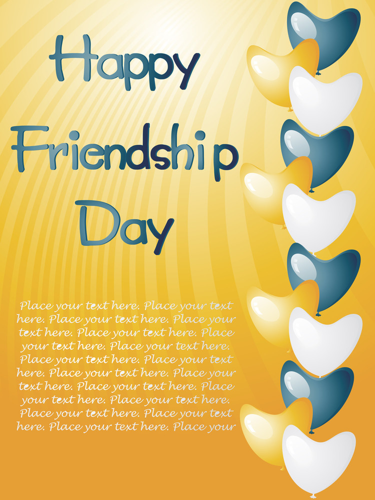 Illustration Of Friendship Day Card