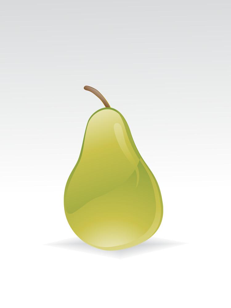 Illustration Of Glossy Pear