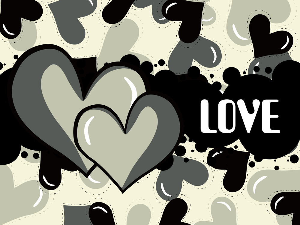 Illustration Of Grungy Love Background