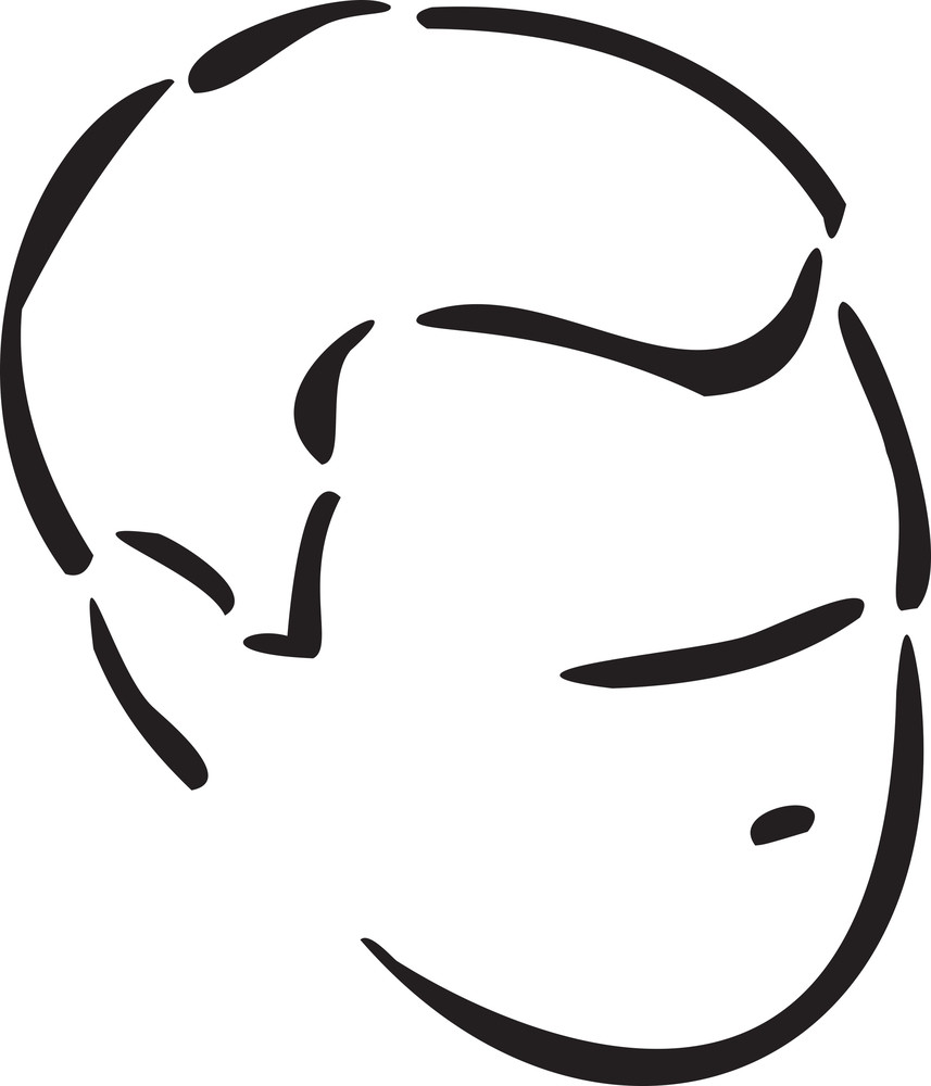 Illustration Of Haircut Man.