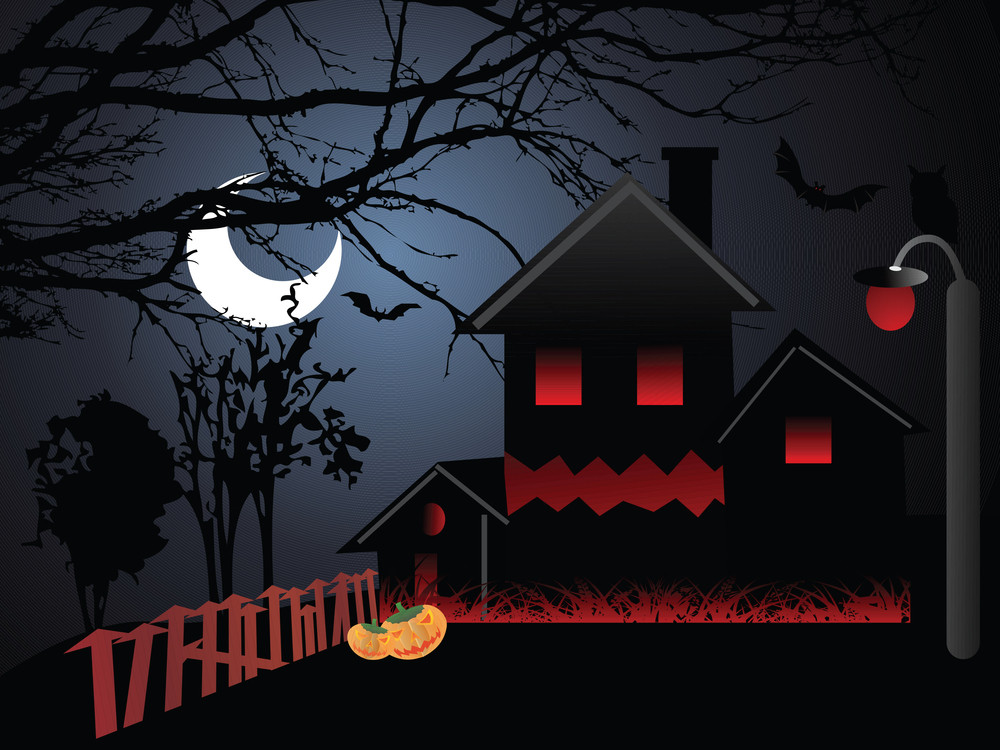 Illustration Of Halloween Background Series2 Set12
