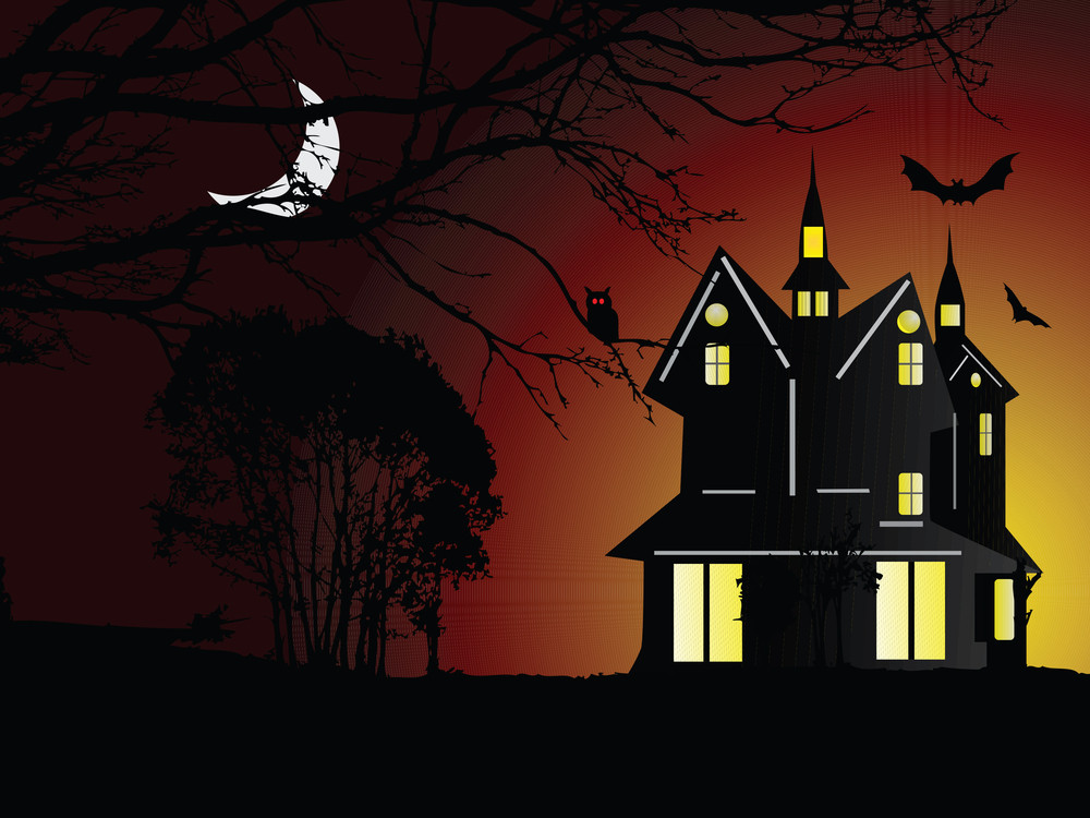 Illustration Of Halloween Background Series2 Set17