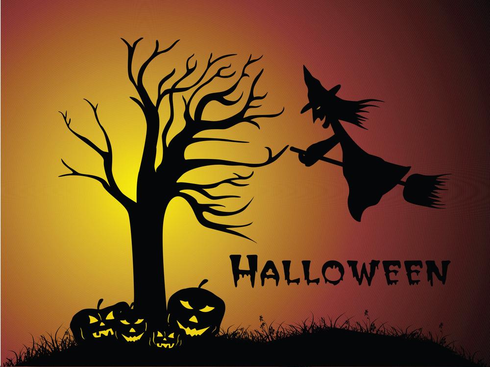 Illustration Of Halloween Background Series2 Set2