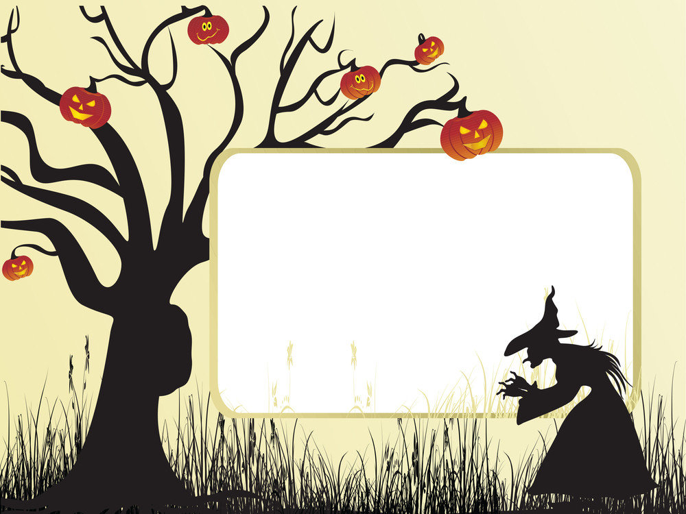 Illustration Of Halloween Background Series2 Set3