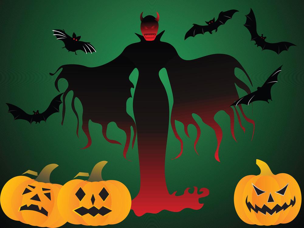 Illustration Of Halloween Background Series2 Set5