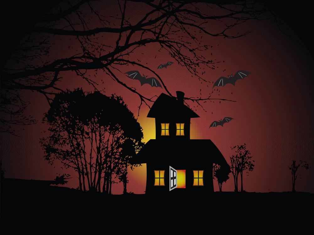 Illustration Of Halloween Background Series2 Set8