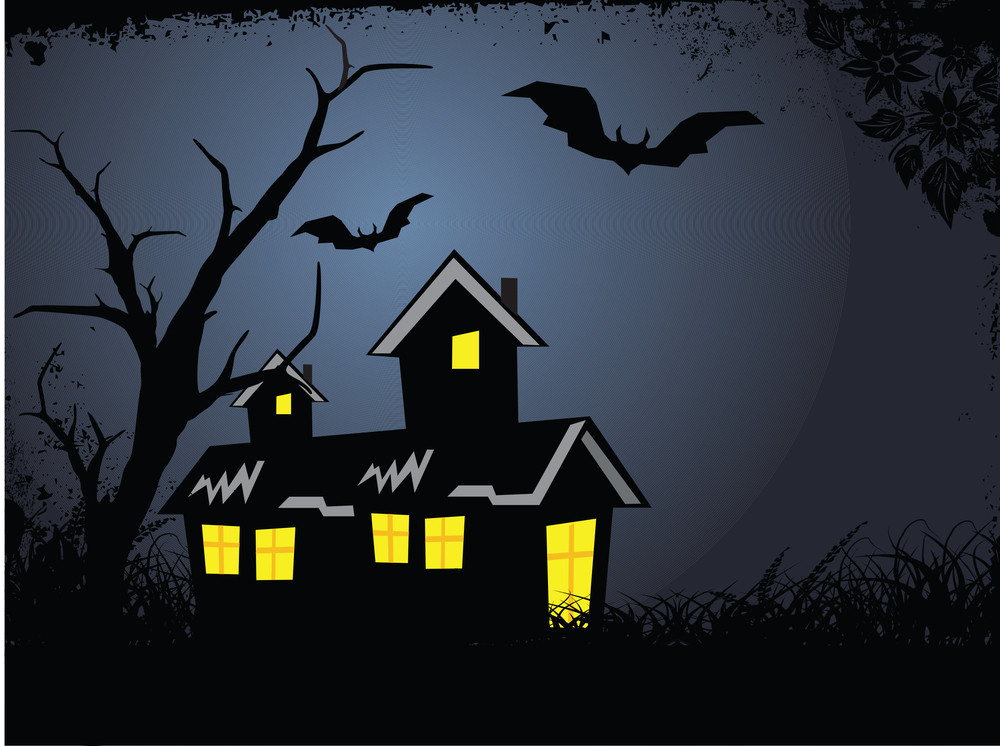Illustration Of Halloween Background Series2 Set9