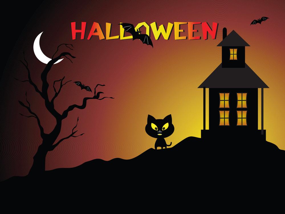 Illustration Of Halloween Background Series3 Set11