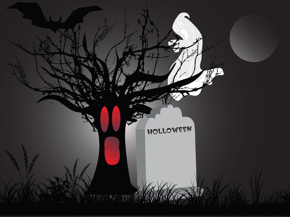 Illustration Of Halloween Background Series3 Set12