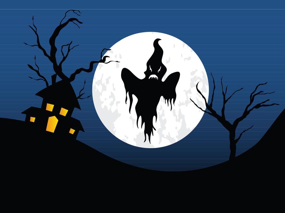 Illustration Of Halloween Background Series3 Set1