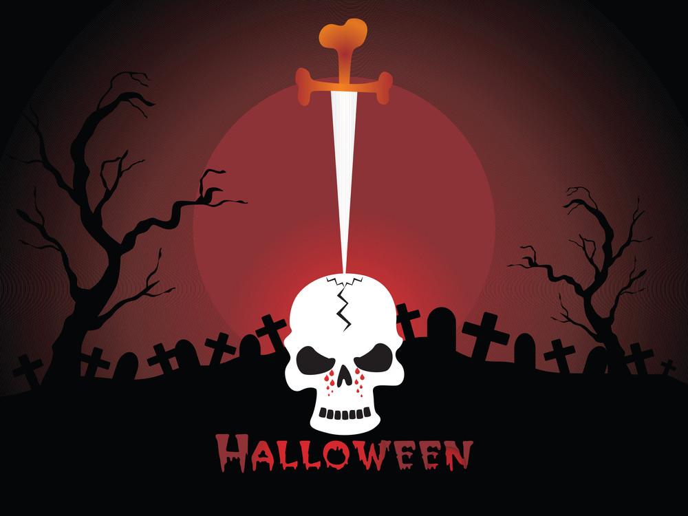 Illustration Of Halloween Background Series3 Set5