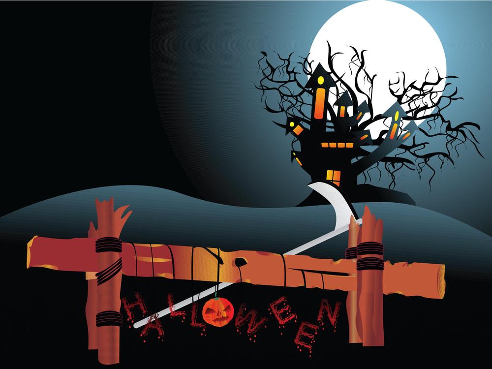 Illustration Of Halloween Background Series3 Set6
