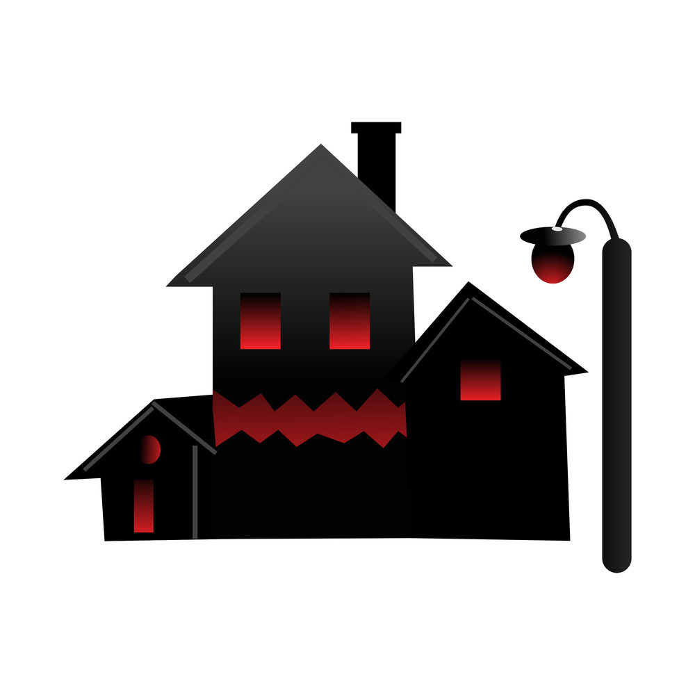 Illustration Of Halloween House