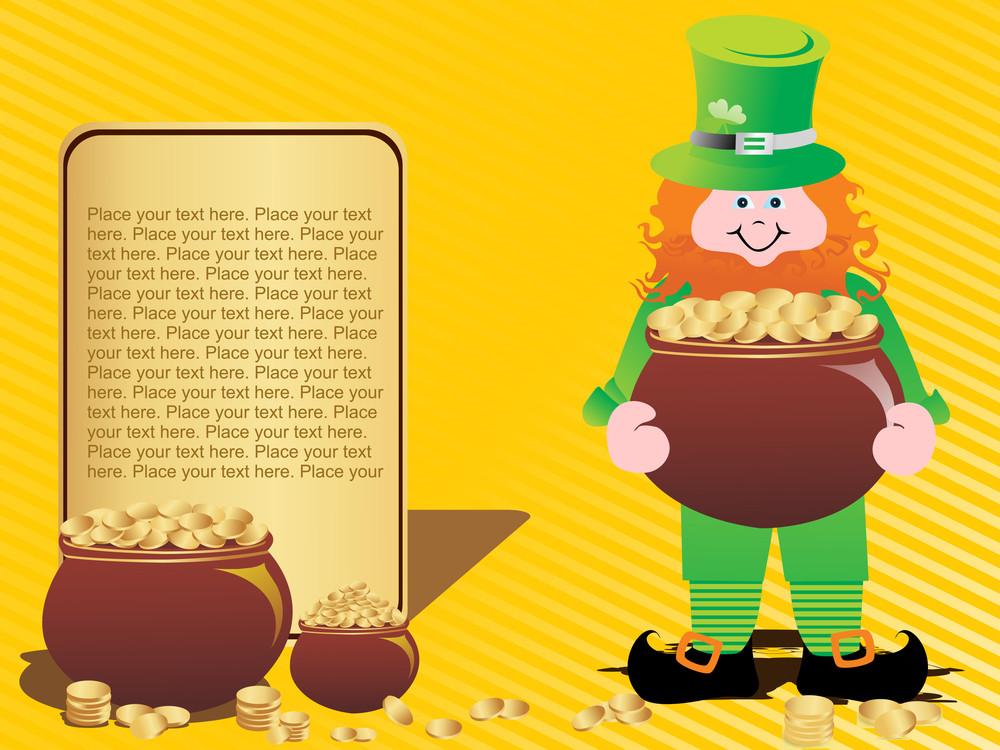 Illustration Of Happy St Patrick Day Background
