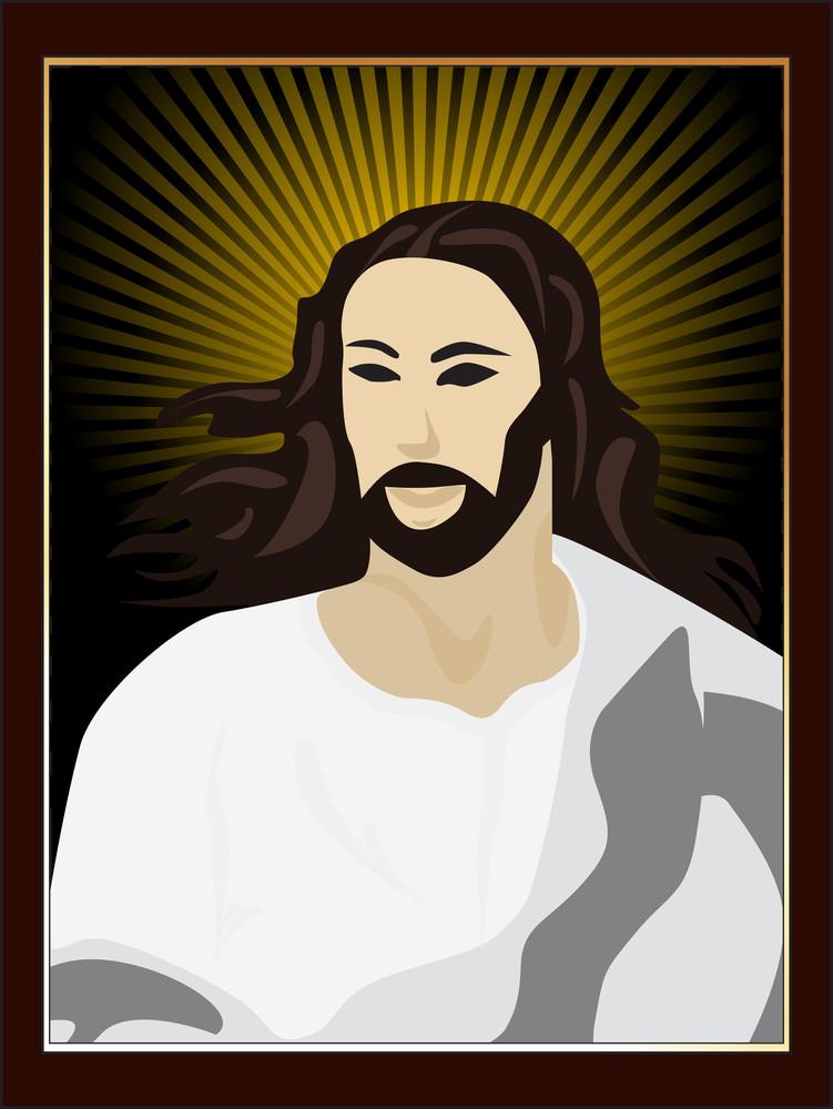 Illustration Of Jesus Face