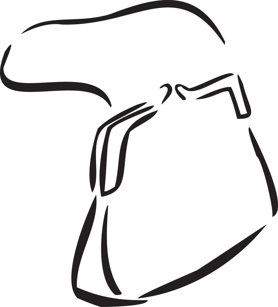Illustration Of Ladies Hand Bag.