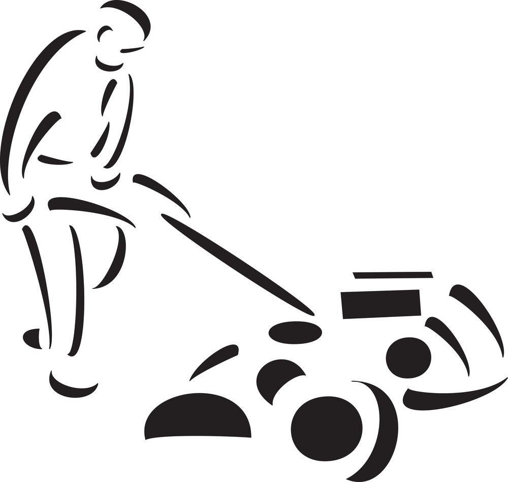 Illustration Of Man With Paddy Cutter.