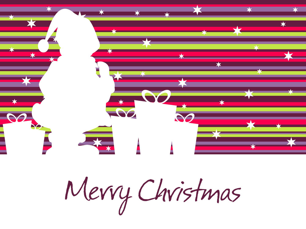 Illustration Of Merry Christmas Day Background