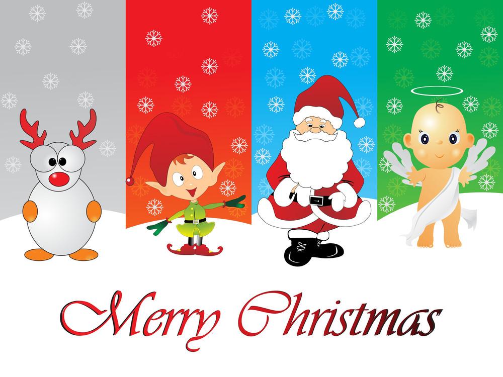 Illustration Of Merry Xmas Day