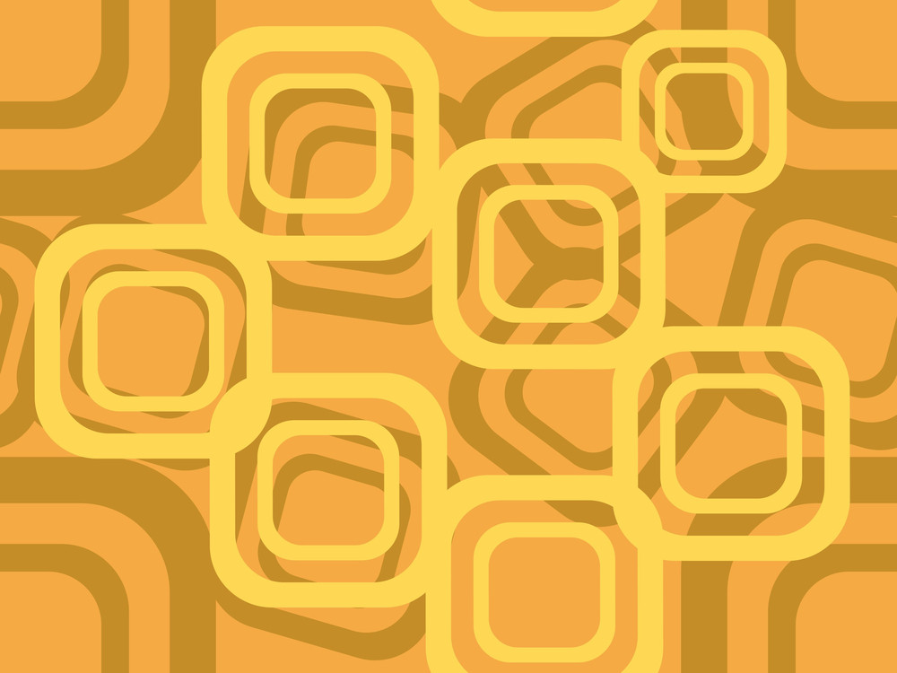 Illustration Of Mustard Mosaic Background
