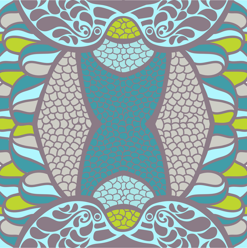 Illustration Of Original Ornament. Psychedelic Abstract Texture.