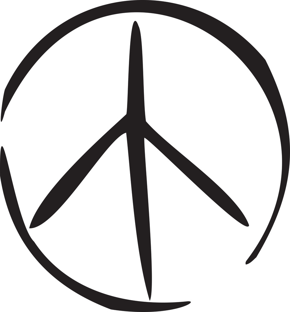 Illustration Of Peace Symbol In 1970s Style Royalty Free Stock