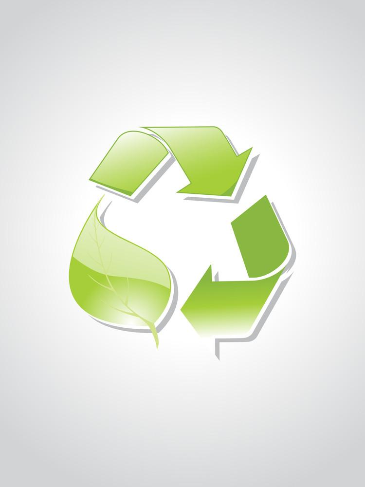 Illustration Of Recycling Symbol
