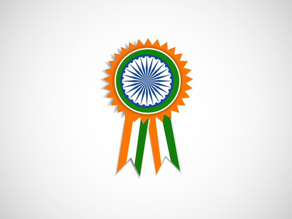 Illustration Of Ribbon Or Badge For Indian Independence Day Or Republic Day And Other Events