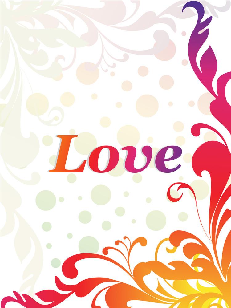 Illustration Of Romantic Love Background