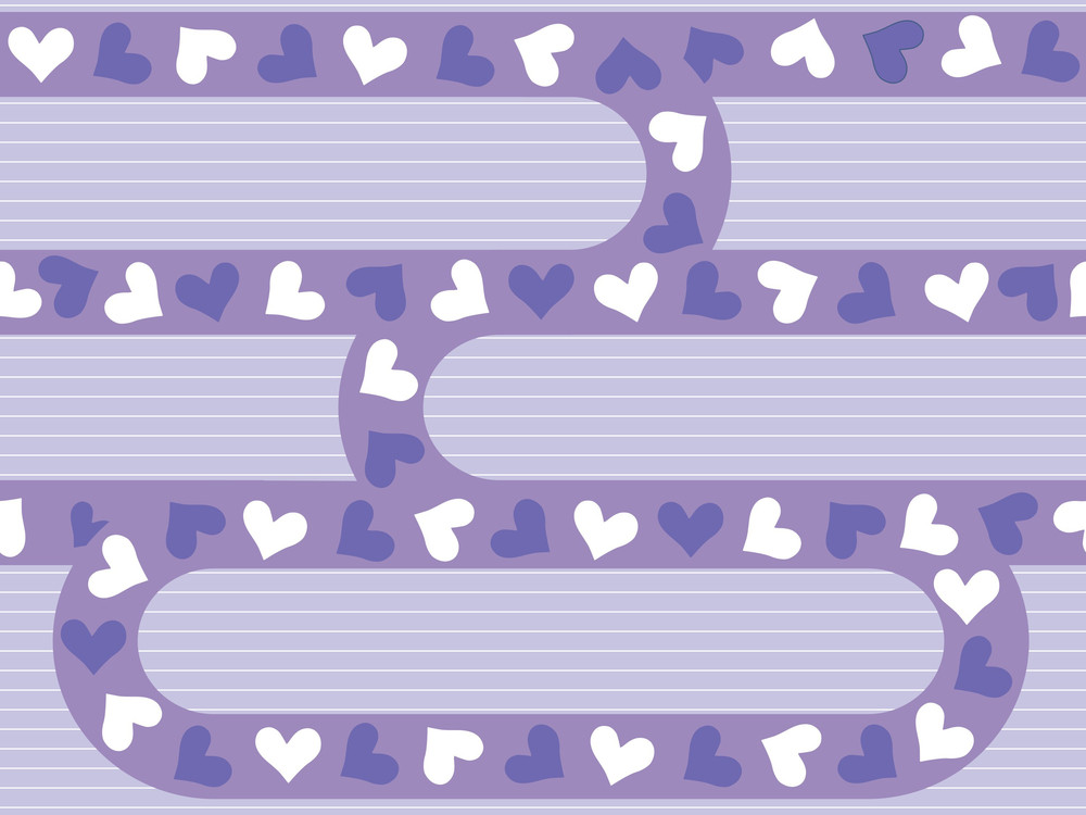 Illustration Of Romantic Pattern Background