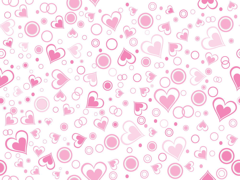 Illustration Of Romantic Pattern Wallpaper