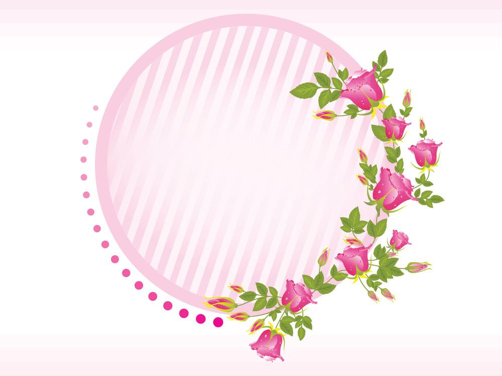 Illustration Of Rose Flower Frame