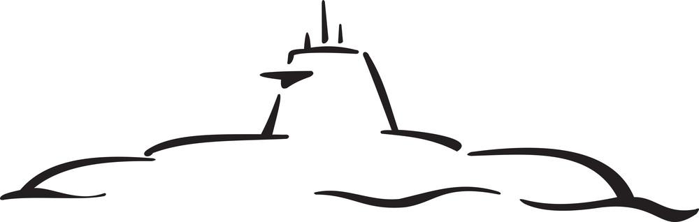 Illustration Of Russian Submarine.