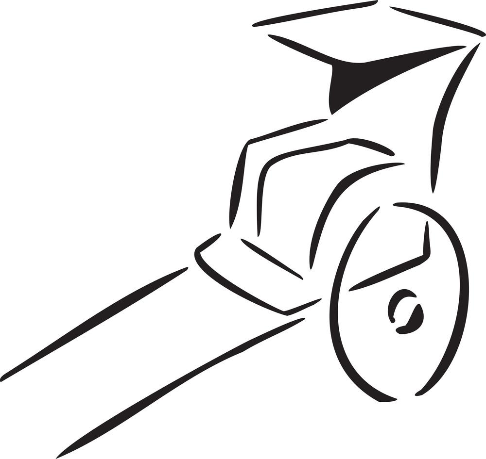 Illustration Of Sedan Chair Of China.