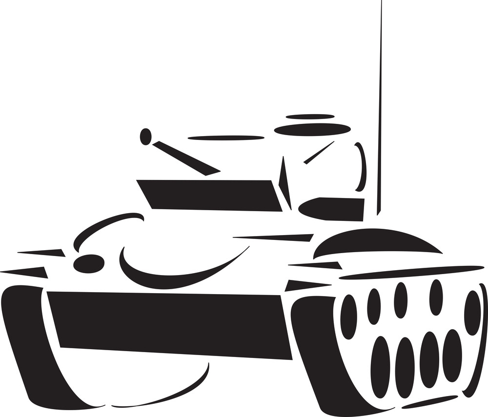 Illustration Of Self Propelled Artillery.