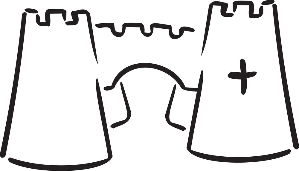 Illustration Of Sham Castle Of England.