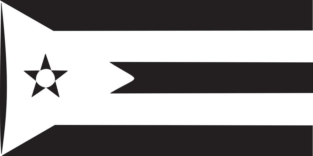 Illustration Of Spanish Cuban's Flag.