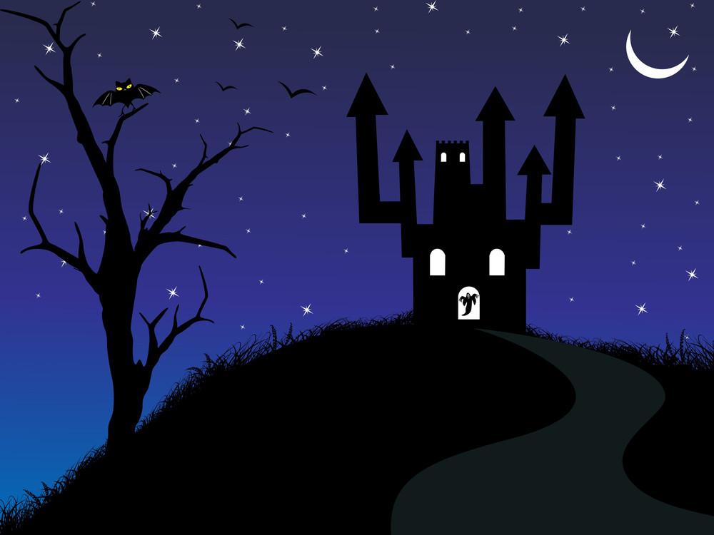 Illustration Of Spooky Background