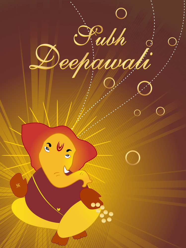 Illustration Of Subh Deepawali