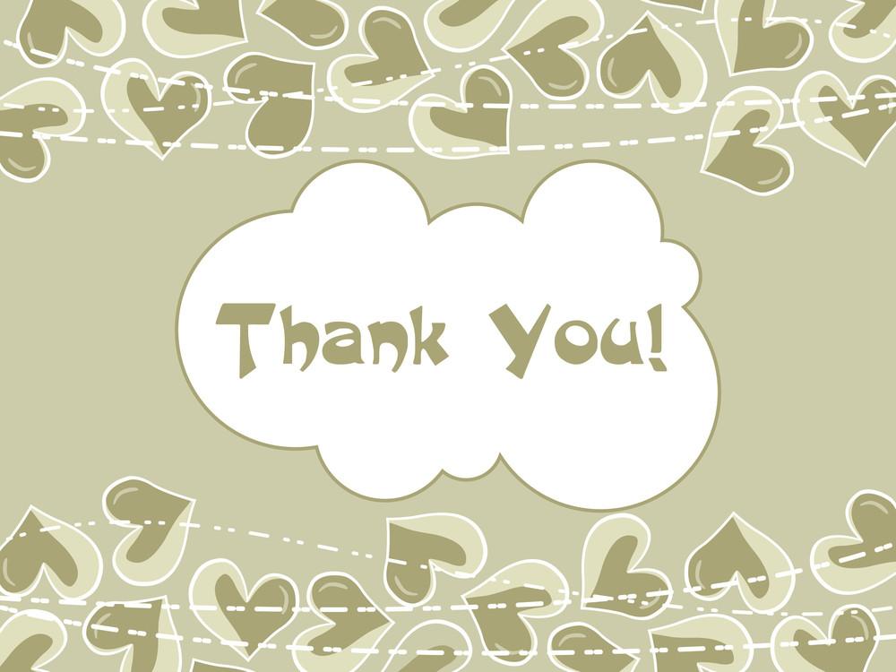 Illustration Of Thank You Background