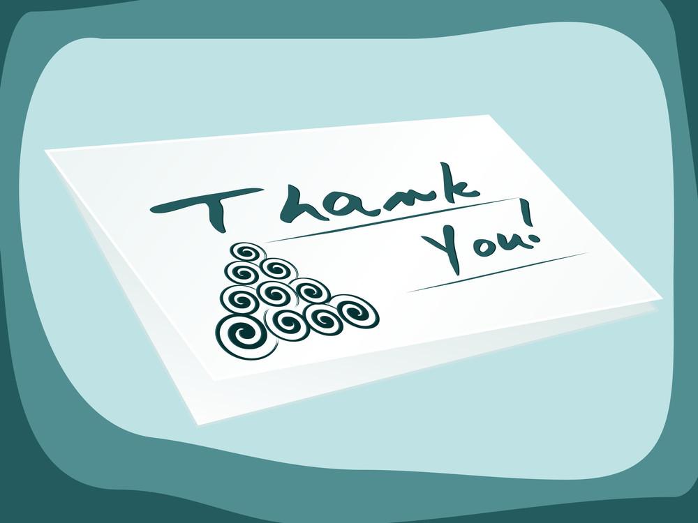Illustration Of Thankyou Card