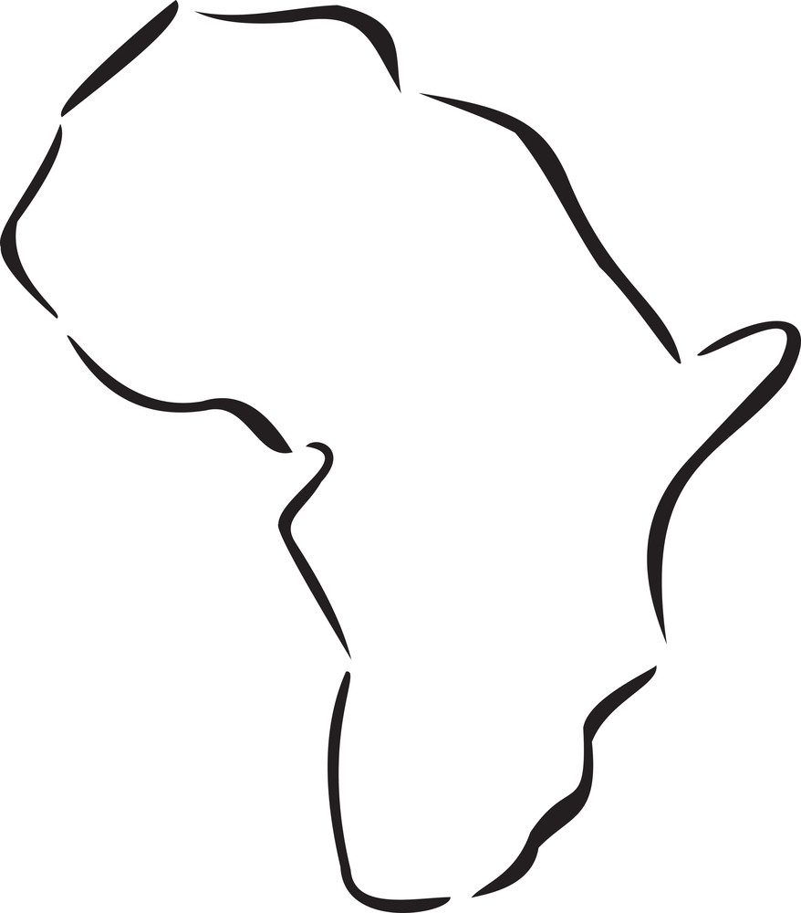 Illustration Of The Map Of Africa.