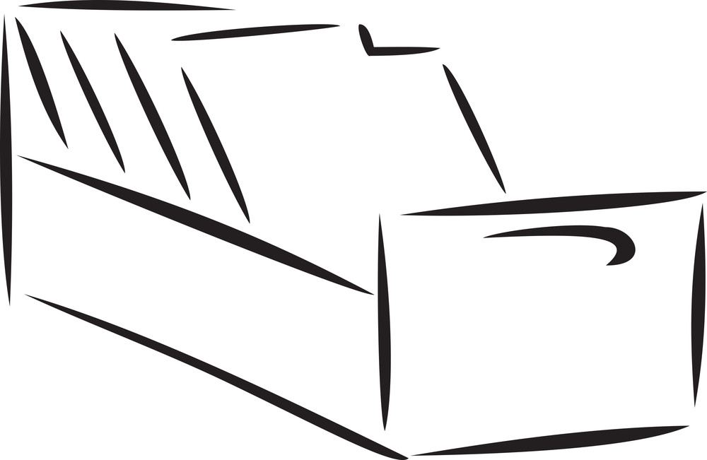 Illustration Of The Shelf Of Files.